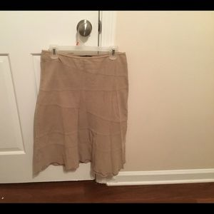 Style & Co. Corduroy Tan Skirt